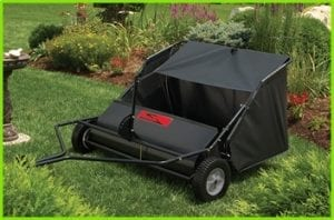best tow behind lawn sweeper