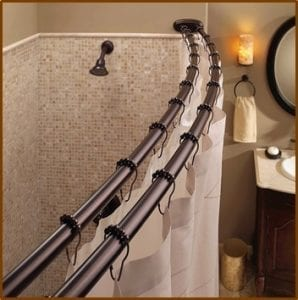 best tension shower rod
