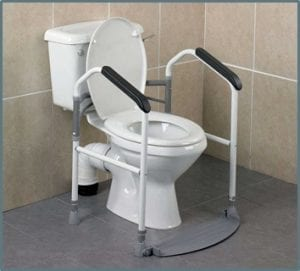 toilet safety rails