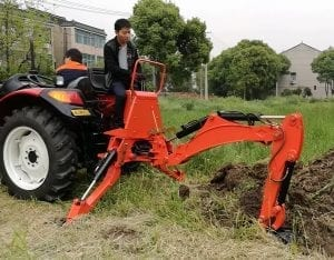 how to use back hoe