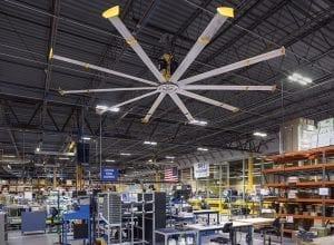 large industrial ceiling fan