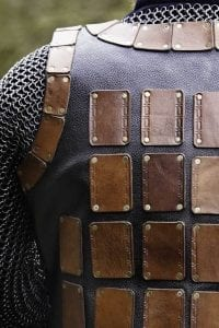 studded leather armor up close
