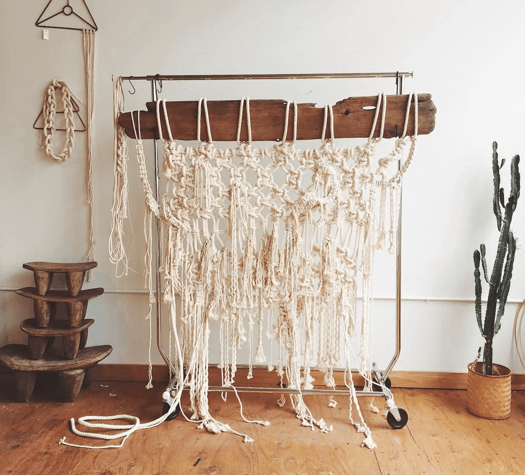 White Macramé Wall Hanging